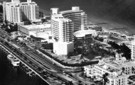 aerial of Eden Roc and Fontainebleau, FL Memory