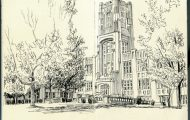 West High School Drawing